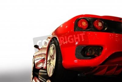 Poster tiro di una vettura sportiva rossa (Ferrari)