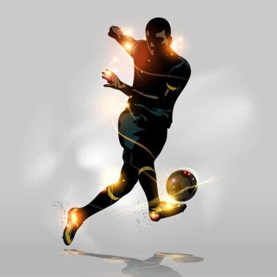 Poster Tiro rapido astratto calcio