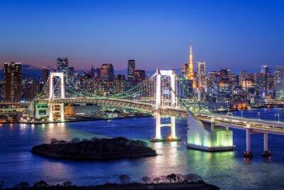Poster Tokyo Rainbow Bridge e la Torre di Tokyo