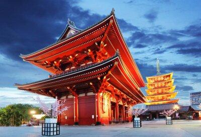 Poster Tokyo - Sensoji-ji, tempio di Asakusa, Giappone