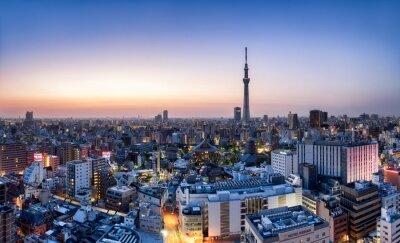 Poster Tokyo skyline con Skytree