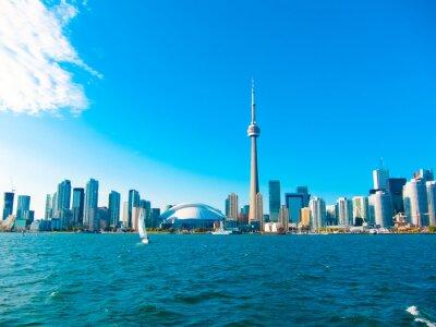 Poster Toronto skyline della città dal traghetto si reca al centro dell'isola