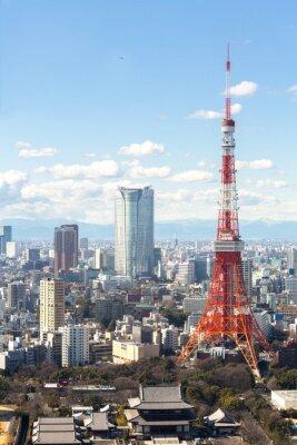 Poster Torre di Tokyo paesaggio urbano