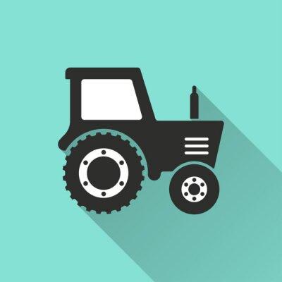 Poster Tractor - icona del vettore.
