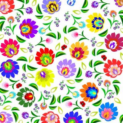 Poster Tradizionale polacco folk pattern floreale di vettore