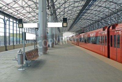 Poster Train station Sheremetyevo, Moscom, Russia