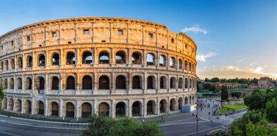 Poster tramonto al Colosseo - Roma - Italia