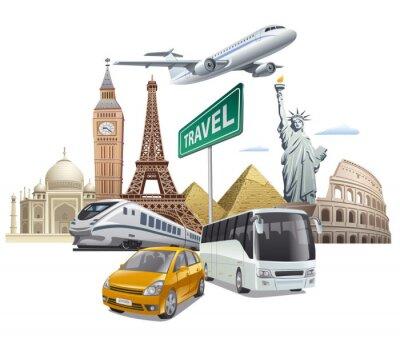 Poster trasporto e di viaggio
