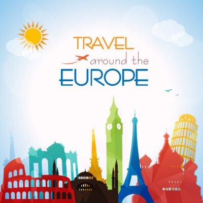 Poster Travel around the Europe