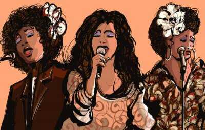 Poster Tre donne cantanti jazz