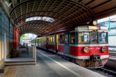 Poster treno rosso