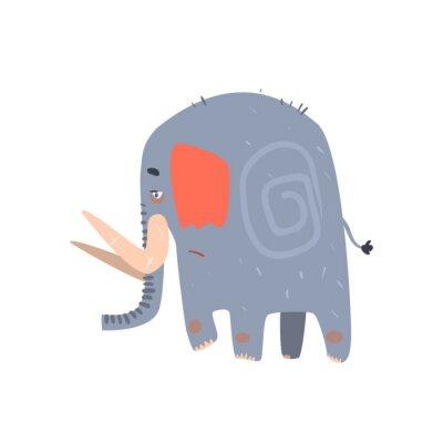 Poster Triste Walking Blue Elephant