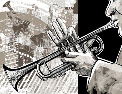 Poster Trombettista