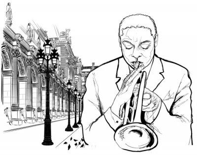 Poster Trombettista a Parigi