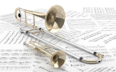 Poster Trombon y sobre Trompeta partituras 2