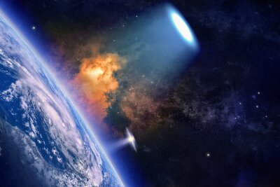 Poster Ufo esplora il pianeta Terra
