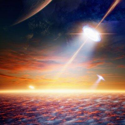 Poster UFO in cielo