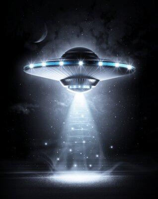 Poster UFO nella notte scura