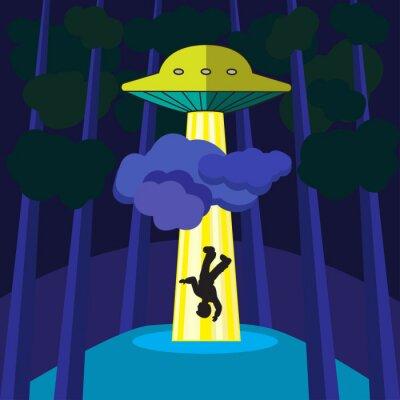 Poster UFO rapisce una persona