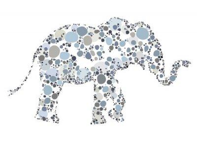 Poster Un creativo illustrazione di un elefante