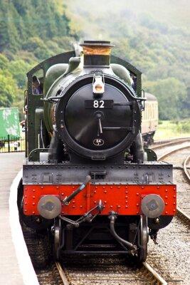 Poster Un treno a vapore arriva in stazione