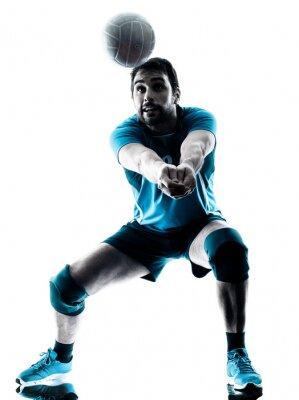 Poster uno pallavolo silhouette