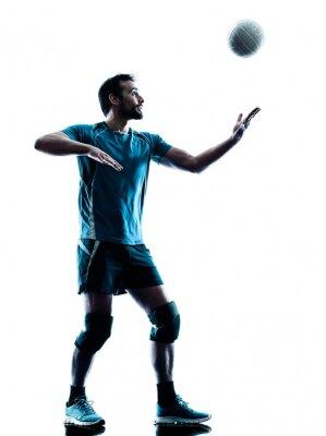 Poster uomo pallavolo silhouette