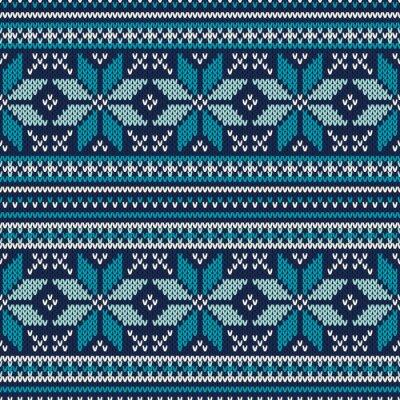 Poster Vacanze invernali Seamless modello di maglia. Fair Isle Maglione Desig