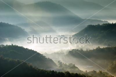 Poster valle di montagna