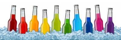 Poster varie bevande su ghiaccio tritato