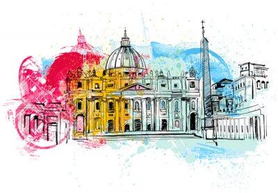 Poster Vaticano Sketch