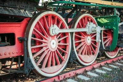 Poster vecchie locomotive a vapore del 20 ° secolo