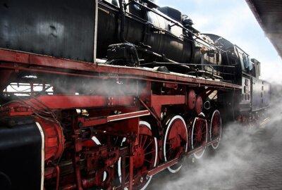 Poster Vecchie rotelle locomotive