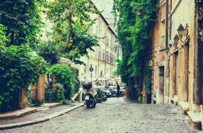Poster Vecchio cortile a Roma, Italia
