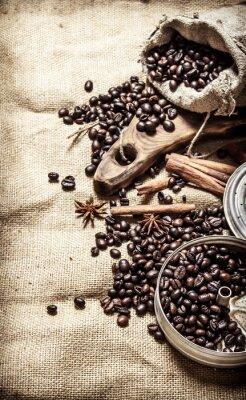 Poster Vecchio stile caffè.