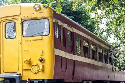Poster Vecchio treno alla stazione