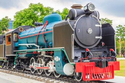 Poster Vecchio treno stile vintage.
