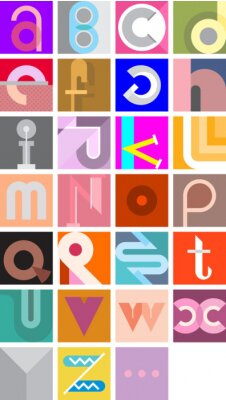 Poster Vector Abstract Font