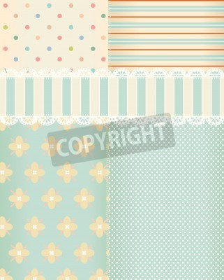 Poster Vector background in style shabby chic