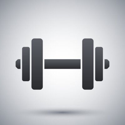 Poster Vector dumbbell icon