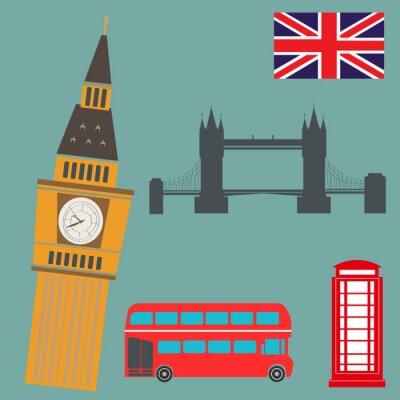 Poster Vector Graphics Londra