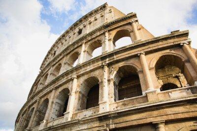 Poster Veduta del Colosseo a Roma, Italia durante il giorno