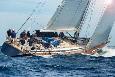 Poster vela barca a vela in regata