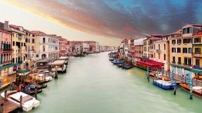 Poster Venezia - canal grande, dal ponte di Rialto