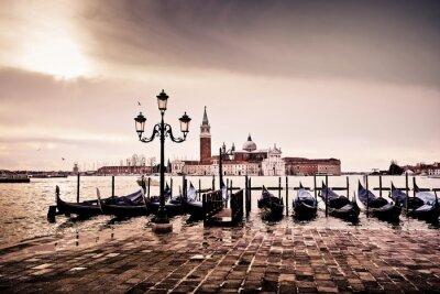 Poster Venezia gondole romantique amour amoureux lagune
