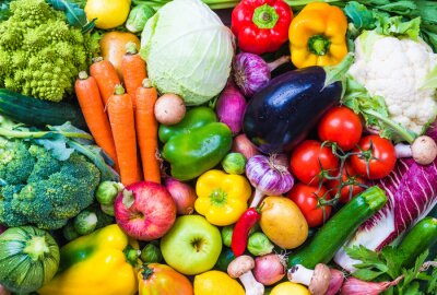 Poster Verdure e frutta di fondo.