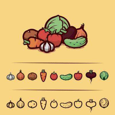 Poster verdure insieme
