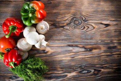 Poster verdure sullo sfondo di legno
