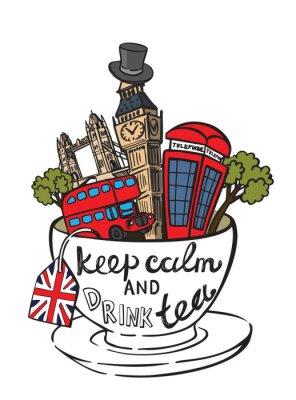 Poster vettore Gran Bretagna
