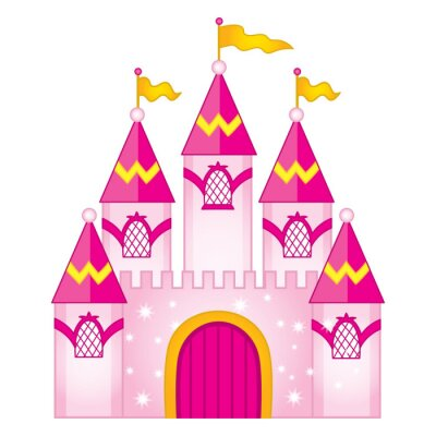 Poster Vettore Magic Fairytale Castle
